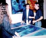 """Abertura da Exposição """"Nômades Amantes do Tempo"""". 1998, Museu Municipal, Mossoró, Rio Grande do Norte, Brasil."""